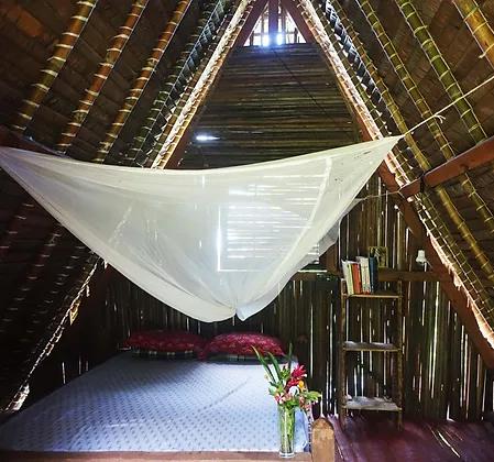 Intérieur du bungalow du gîte rural Akiba