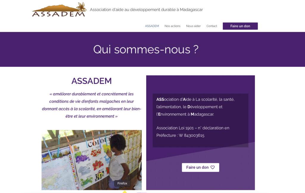 Page d'accueil ASSADEM